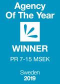 Agency Of The Year 2019 WINNER PR 7-15 MSEK